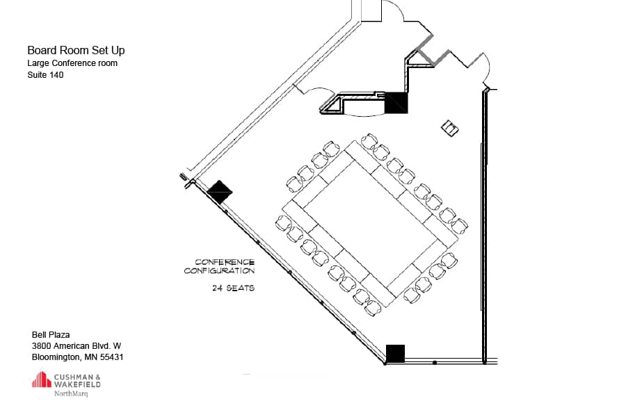 Bell Plaza Diagram Board Room Layout Minneapolis Conference Room