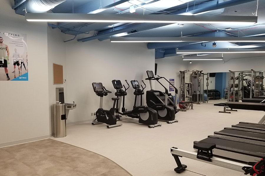 Bell Plaza Gym Blue Treadmills