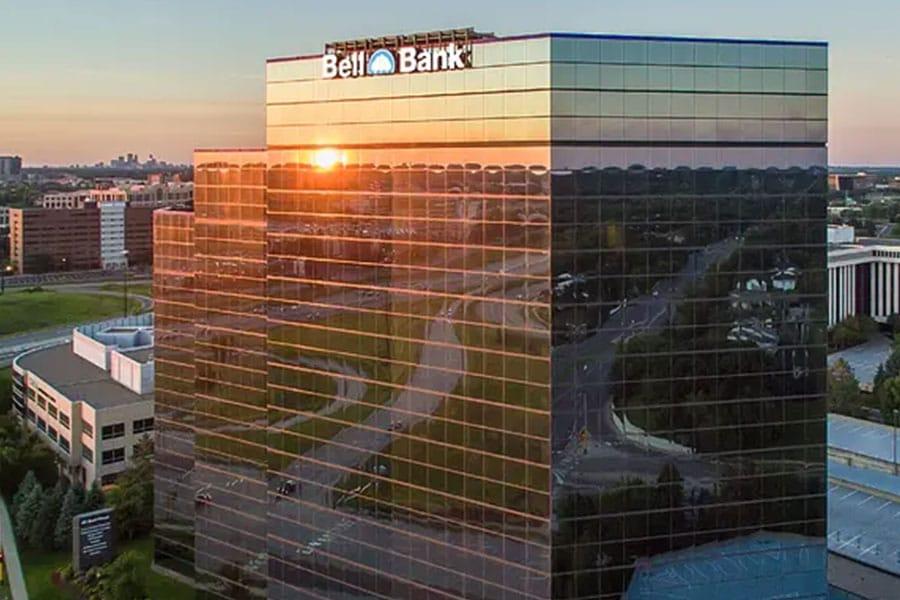 Bell Plaza Street View Sunset Reflection